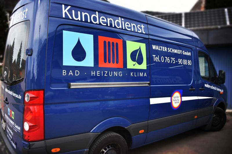 Fahrzeugbeschriftung - Walter Schmidt GmbH